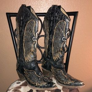 Distressed Corral Ladies Boots 8.5